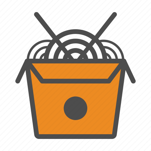 box, chiniese, food, noodles icon