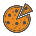 food, italian, italy, pizza icon