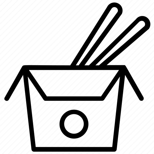 disposable food, food delivery, packed food, takeaway, upshoot food icon