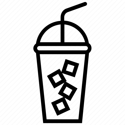 beverages, chilled drink, ice drink, soft drink, takeaway drink icon