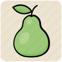 food, fruit, natural, pear icon
