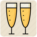 drink, drinking, food, glass, orange juice, soft drink icon