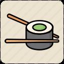 eating, food, food sticks, maki, sticks, sushi