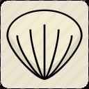 fins, fish, food, ocean, sand, seashore, shell icon