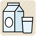 breakfast, can, drink, food, glass, milk, milk pack icon