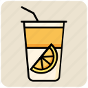 drink, food, glass, juice, orange icon