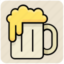 alcohol, beer, coffee, drink, food, mug, tankard icon