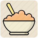 .svg, bowl, dinner, eating, food, rice, spoon