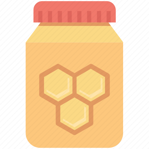 bee honey, beeswax, food, honey jar, organic icon