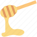honey dipper, honey dripping, honey drizzler, honey pouring, honey serving icon