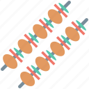 barbecue, bbq, brochette, grilled kebab, skewer icon