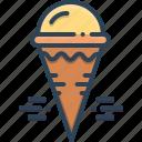 cone, cream, cream cone, icecream, refreshing icon
