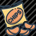 chips, crisp, fried, potato, potato chips, snacks