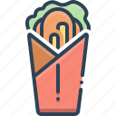 burger, fastfood, flatbread, roll, shawarma, shawerma, shawurma icon