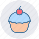 birthday, cake, dessert, food, muffin, sweet icon