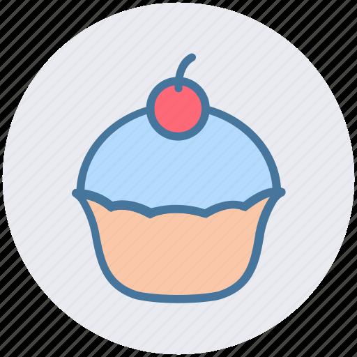 birthday, cake, dessert, food, muffin, sweet icon