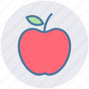 apple, apple slice, eating, energy, food, fruit icon