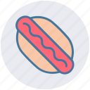 dog, eating, fast food, food, hot, hotdog icon