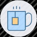 coffee, cup, hot coffee, hot tea, mug, tea icon