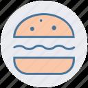 burger, eating, fast food, food, hamburger, snack icon