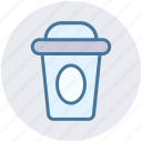 coffee, cup, glass, juice, paper, shake icon