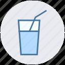 drink, glass, juice, straw, water, water glass