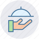 food, hand, platter, restaurant, serving, waiter icon