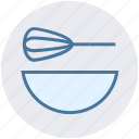 beater, bowl, food, hand beater, hand mixer, mixer icon