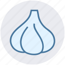 clove, cook, food, garlic, kitchen, vegetables icon