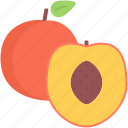 cooking, food, fruit, peach, shop, supermarket