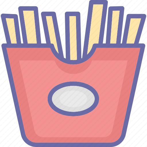 french fries, french fries box, fries box, frites icon
