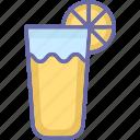 drink, lemon juice, lemonade, orange juice icon