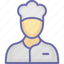 chef, chef cook, cook, cook head icon