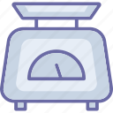 electronic scale, food scale, kitchen gadget, kitchen scale icon