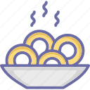 bowl, noodles, snack, spaghetti icon