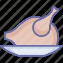 chicken, grilled food, roast, roast chicken icon