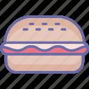 fast food, hotdog, hotdog burger, hotdog sandwich icon