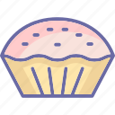 bakery food, dessert, meat pie, pie icon