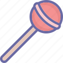 confectionery, lollipop, lolly, lolly stick icon