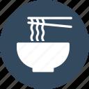 chopsticks, eating utensil, kitchen utensil, noodles icon
