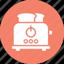 electricals, electronics, slice toaster, toast machine icon