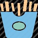 french fries, french fries box, fries box, frites icon