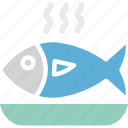 cooked fish, fish, food, healthy food icon