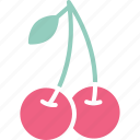 cherry, food, fruit, healthy food icon