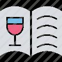 bar menu, drink menu, menu list, wine list icon