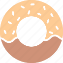 bakery food, confectionery, donut, doughnut icon