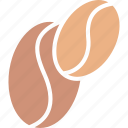 cappuccino, coffee, coffee beans, coffee grains icon