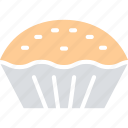 bakery food, dessert, meat pie, pie icon