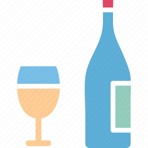 alcohol, beer bottle, wine, wine bottle icon