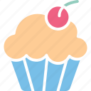 bakery food, cupcake, dessert, fairy cake icon